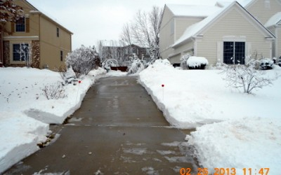 February 26 Snow storm our drive way cleaned by wonderful neighbors