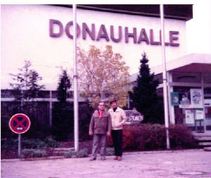 In front of DonauHalle Donaueschingen Germany March 1982 The place from where I defected