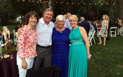 At wedding party Dr. Michelle and Thomas Franey, Julia and the new mother in law Leslie