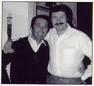 Bela Karolyi and I, at his house in Houston, TX. Christmas 1983