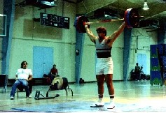 Randy Barnes, World and Olympic record holder and Olympic and World Champion shut putter 130 kg 286 lbs Power Snatch